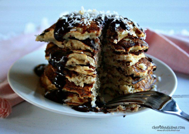 Glluten Free Sugar Free Coconut Pancakes