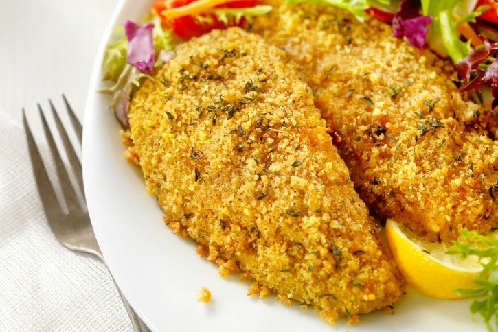 breaded and baked fish