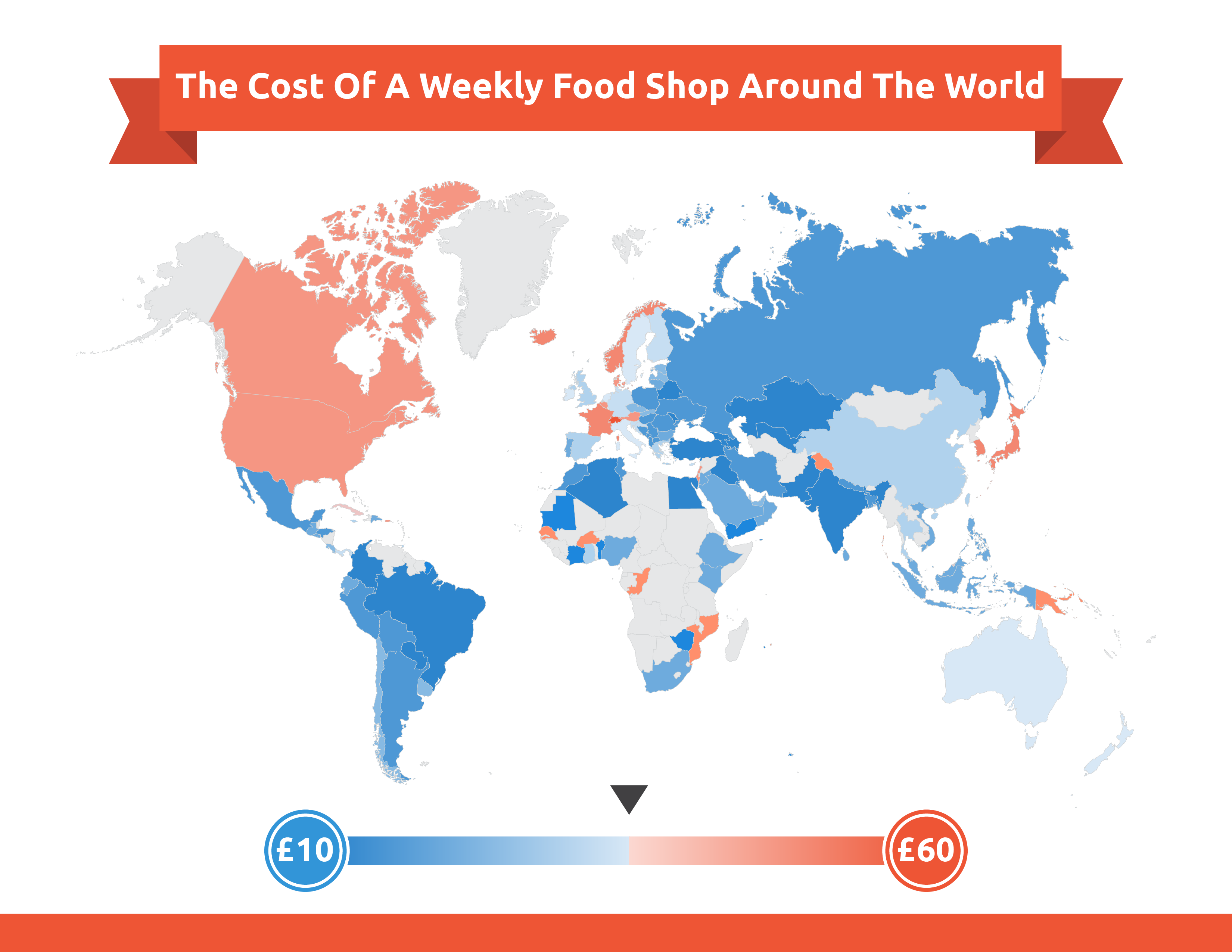 Heatmap of food prices